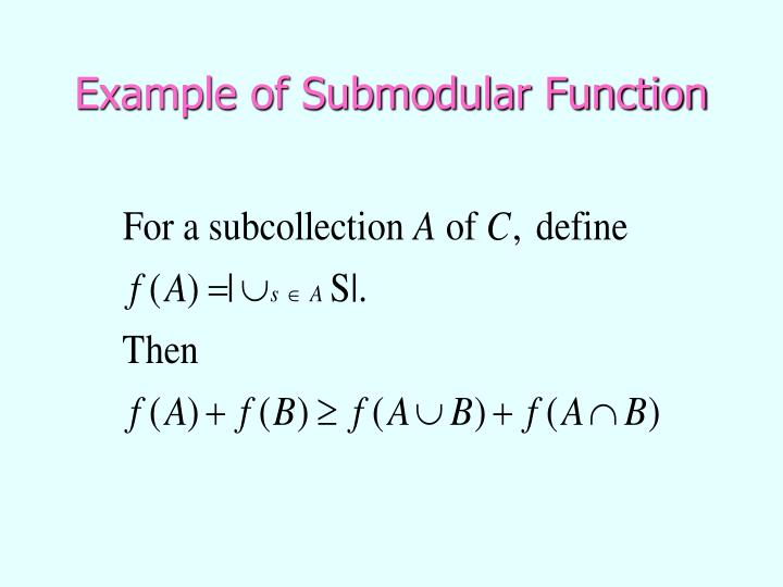 Example of Submodular Function