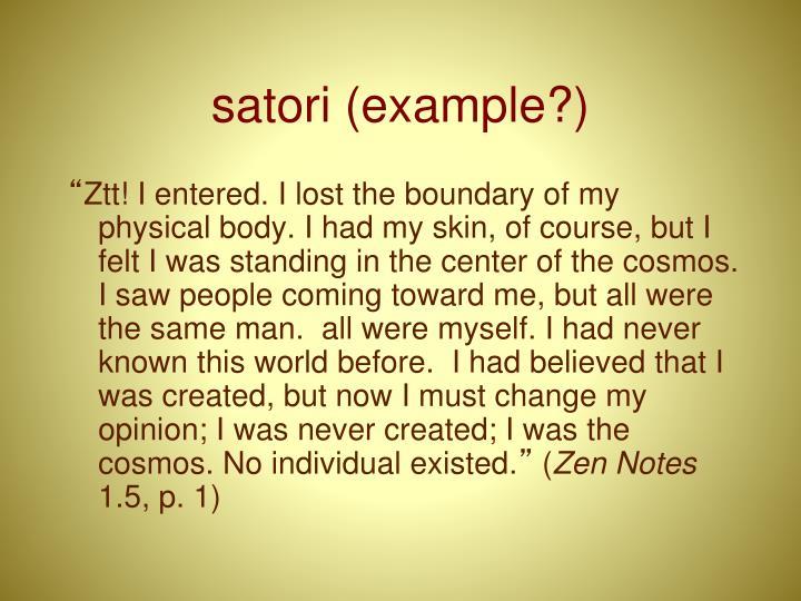 satori (example?)