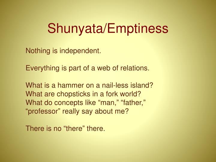 Shunyata/Emptiness