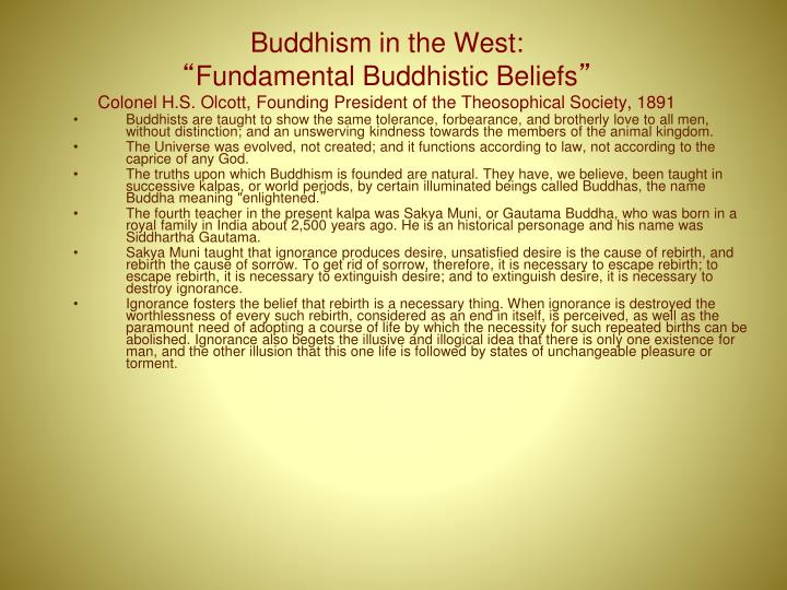 Buddhism in the West: