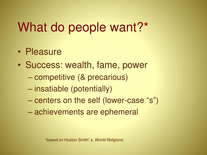 What do people want?*