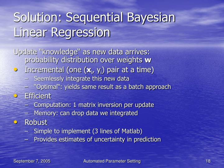 Solution: Sequential Bayesian Linear Regression
