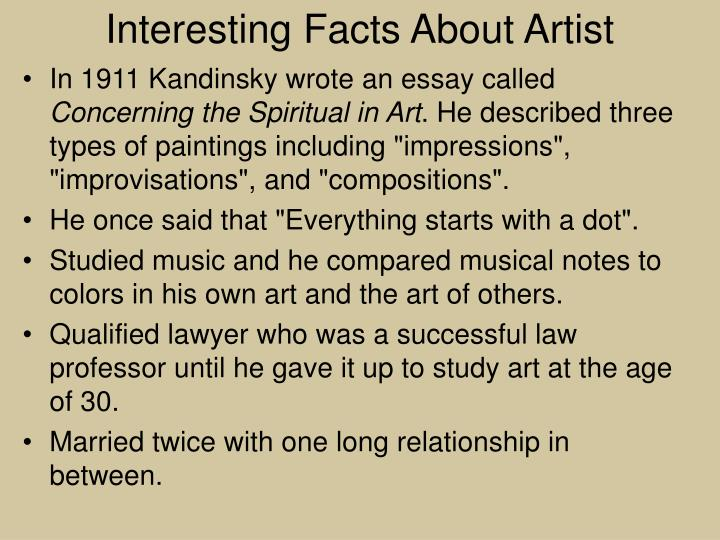 Interesting Facts About Artist