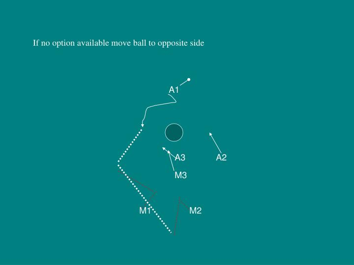 If no option available move ball to opposite side