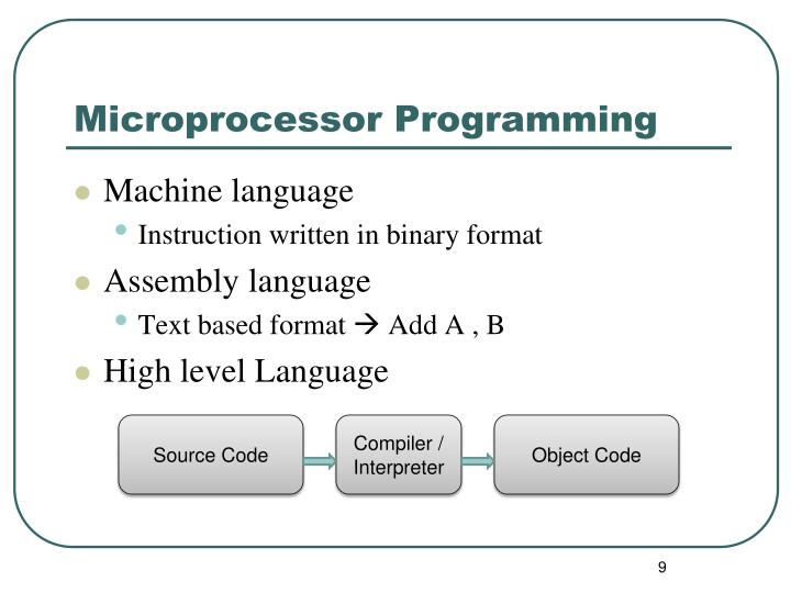 Microprocessor Programming