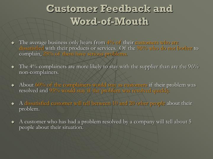 Customer Feedback and