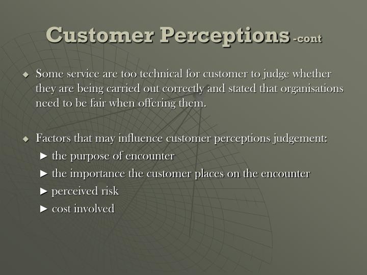 Customer Perceptions
