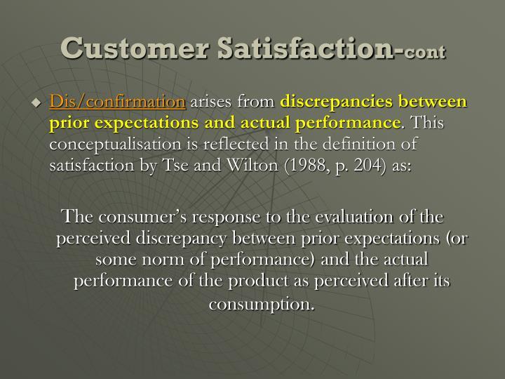 Customer Satisfaction-