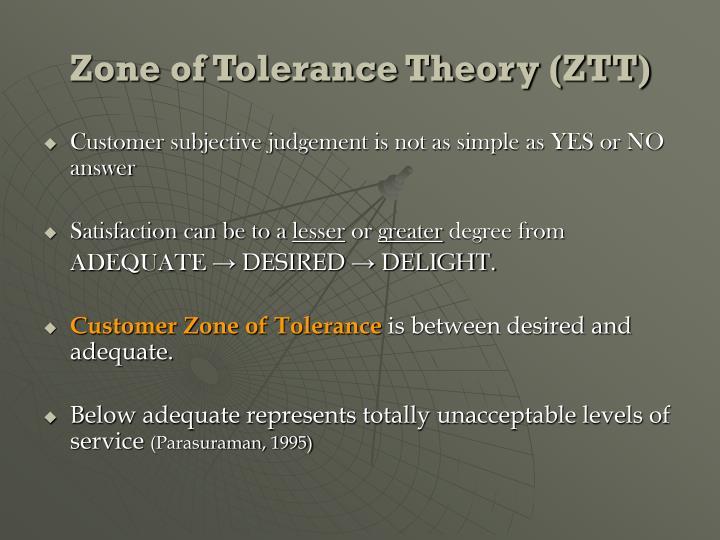 Zone of Tolerance Theory (ZTT)