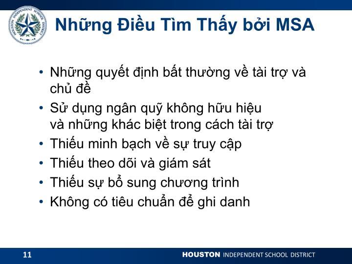 Những Điều Tìm Thấy bởi MSA