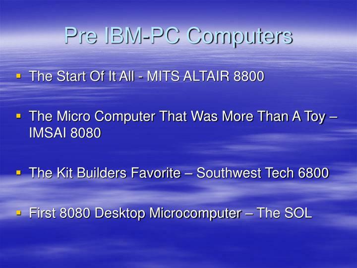 Pre ibm pc computers