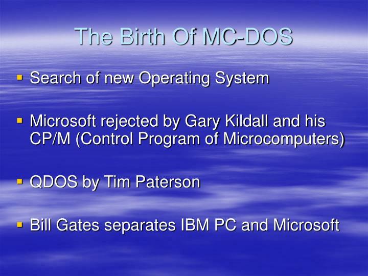 The Birth Of MC-DOS