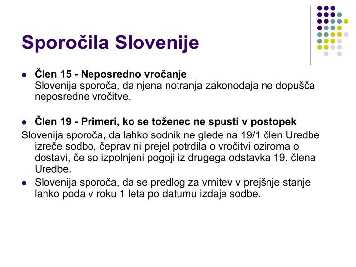 Sporočila Slovenije