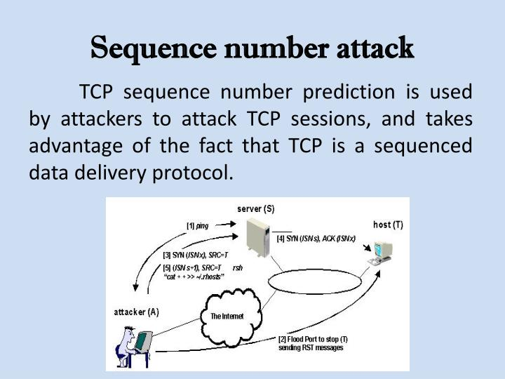 Sequence number attack