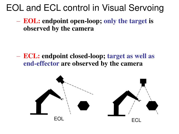 EOL and ECL control in Visual Servoing