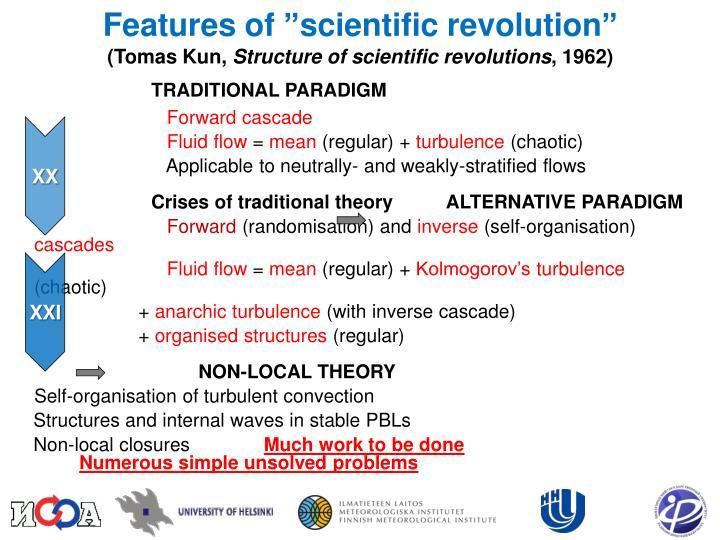 """Features of """"scientific revolution"""""""