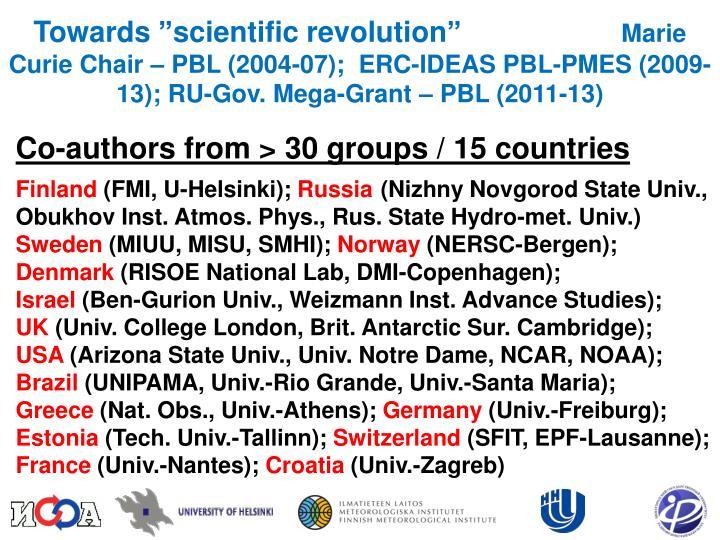 "Towards ""scientific revolution"""