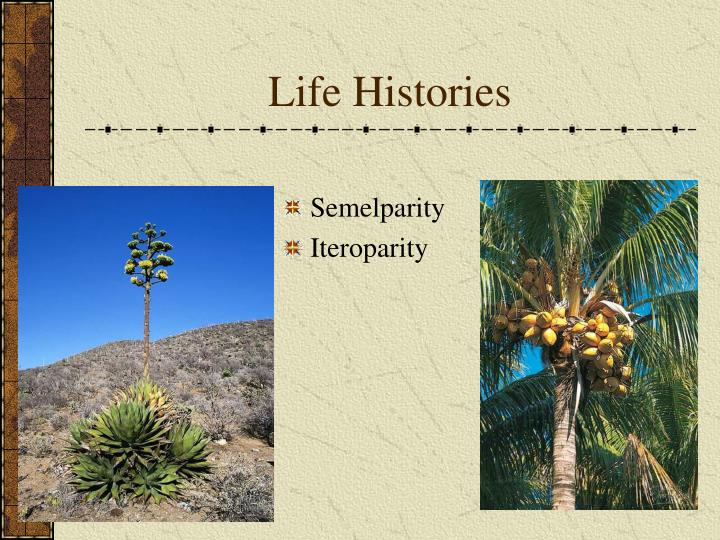 Life Histories