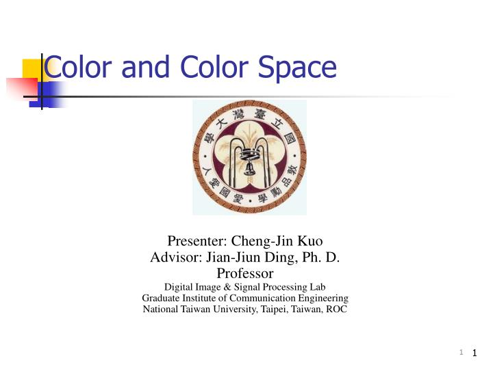 Color and color space