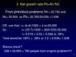 3 net growth rate r 0 n 1 n 0