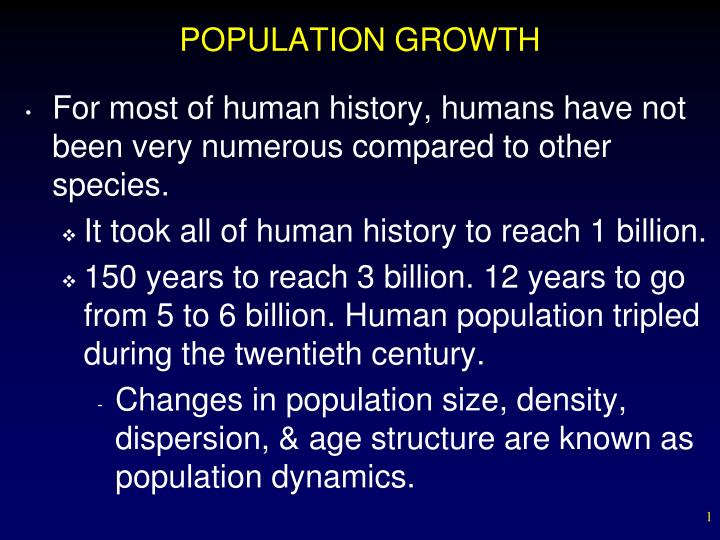 population growth n.
