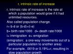 r intrinsic rate of increase