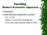 fertility modern economic approach1