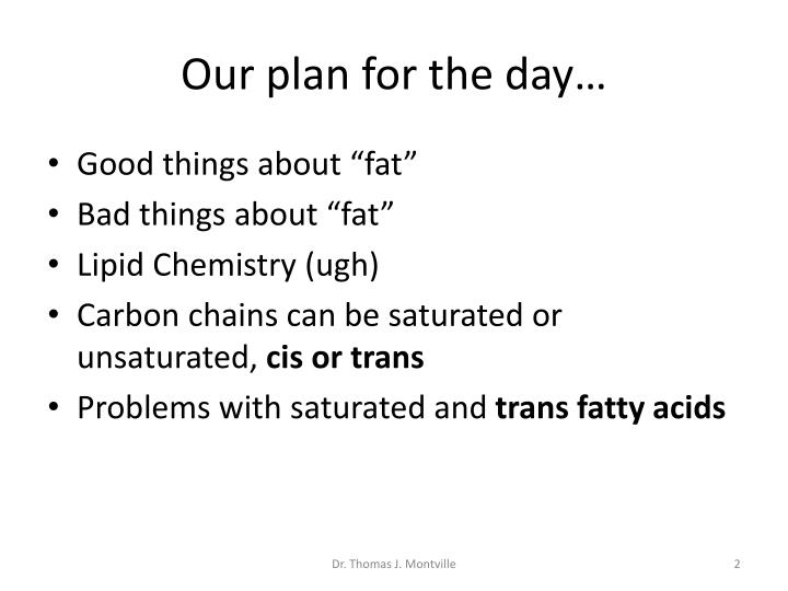 Our plan for the day