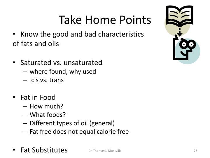 Take Home Points
