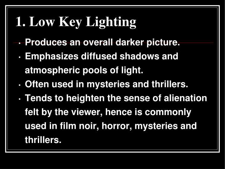 1. Low Key Lighting
