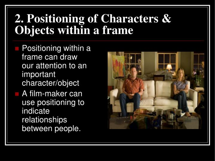 2. Positioning of Characters & Objects within a frame