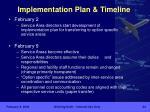implementation plan timeline1