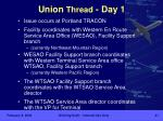 union thread day 1