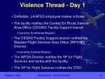 violence thread day 1