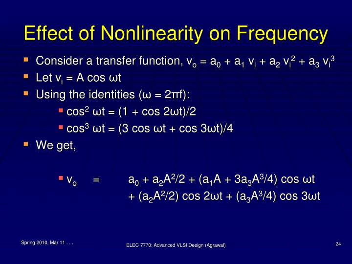 Effect of Nonlinearity on Frequency