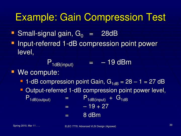 Example: Gain Compression Test