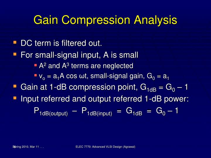 Gain Compression Analysis