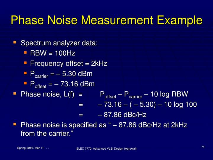 Phase Noise Measurement Example
