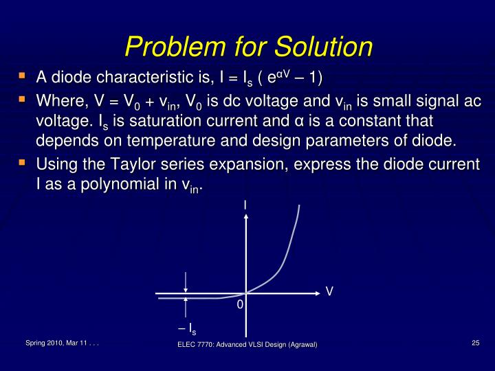 Problem for Solution
