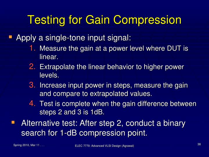 Testing for Gain Compression