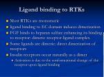 ligand binding to rtks
