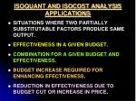 isoquant and isocost analysis applications