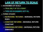 law of return to scale2