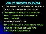 law of return to scale4