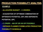 production possibility analysis1