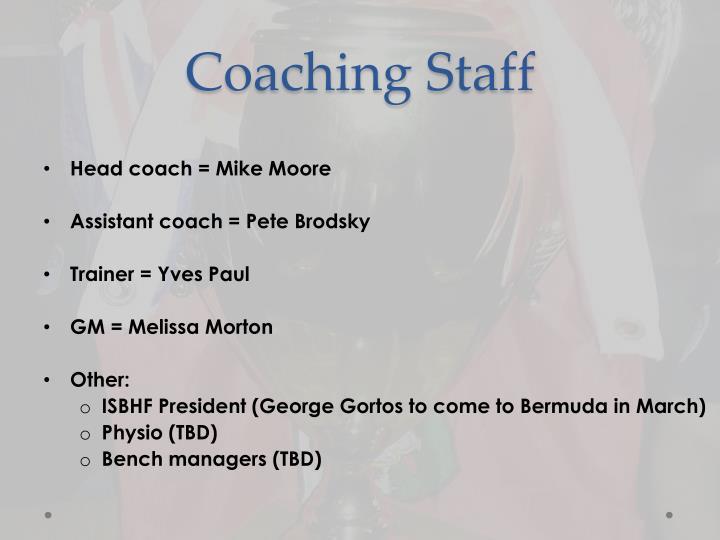 Coaching staff