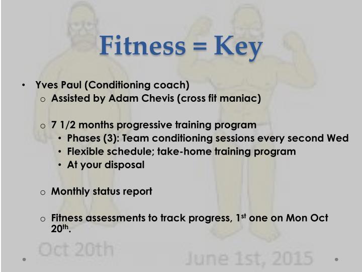 Fitness = Key