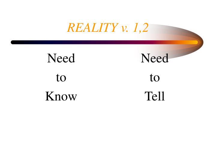 Reality v 1 2