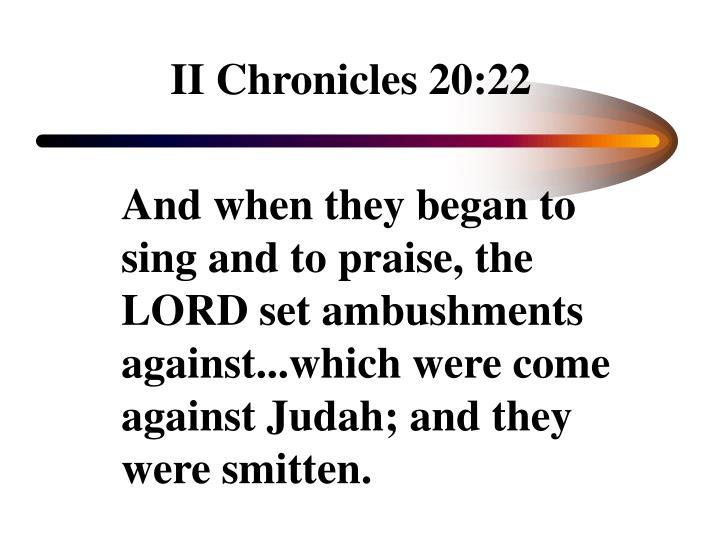 II Chronicles 20:22