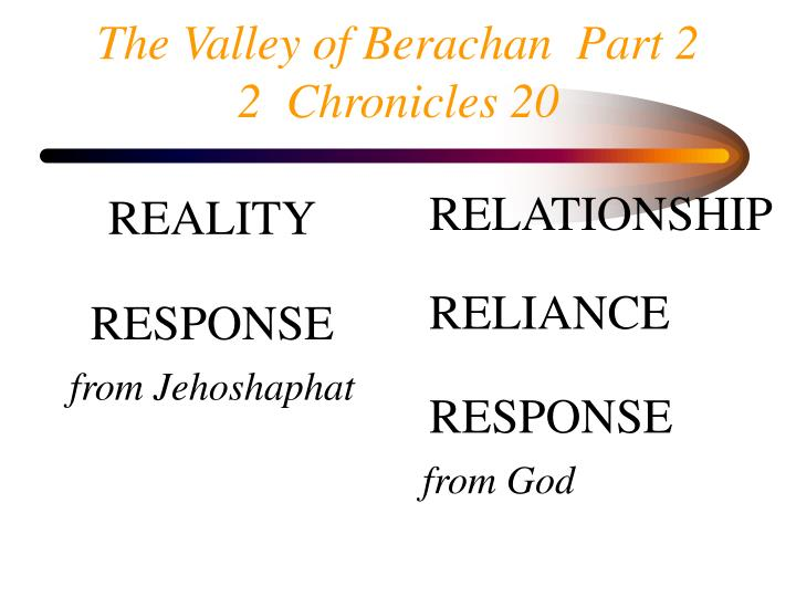 The valley of berachan part 2 2 chronicles 20